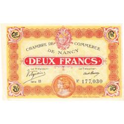 Nancy - Pirot 87-25 - 2 francs - Série B - 11/11/1918 - Etat : SUP
