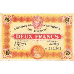 Nancy - Pirot 87-25 - 2 francs - Série C - 11/11/1918 - Etat : TTB+