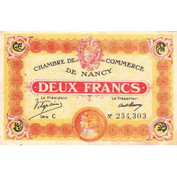 Nancy - Pirot 87-25-C - 2 francs - Etat : TTB+