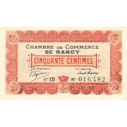 Nancy - Pirot 87-28 - 50 centimes - Série 12I - 01/12/1918 - Etat : SPL+