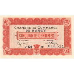 Nancy - Pirot 87-28 - 50 centimes - Série 12Q - 01/12/1918 - Etat : SPL