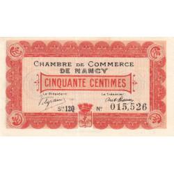 Nancy - Pirot 87-28 - 50 centimes - Série 12Q - 01/12/1918 - Etat : NEUF