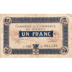 Nancy - Pirot 87-29 - 1 franc - Etat : TB-