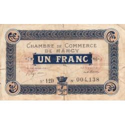 Nancy - Pirot 87-29 - 1 franc - Série 12D - 01/12/1918 - Etat : TB-
