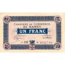 Nancy - Pirot 87-30 - 1 franc - Etat : SPL à NEUF