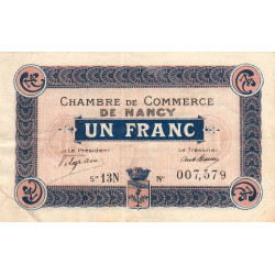 Nancy - Pirot 87-30 - 1 franc - Etat : TTB