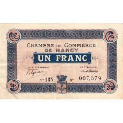 Nancy - Pirot 87-30 - 1 franc - Série 13N - 01/12/1918 - Etat : TTB