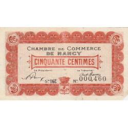 Nancy - Pirot 87-31 - 50 centimes - Série 16E - 01/04/1919 - Etat : B+