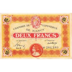 Nancy - Pirot 87-32 - 2 francs - Série D - 01/04/1919 - Etat : TTB