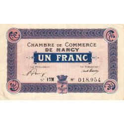 Nancy - Pirot 87-33 - 1 franc - Série 17M - 15/04/1919 - Etat : TTB