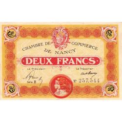 Nancy - Pirot 87-34 - 2 francs - Série E - 01/05/1919 - Etat : SUP