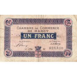 Nancy - Pirot 87-36 - 1 franc - Série 17A - 15/05/1919 - Etat : TB-