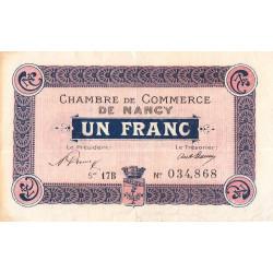 Nancy - Pirot 87-36 - 1 franc - Etat : TTB