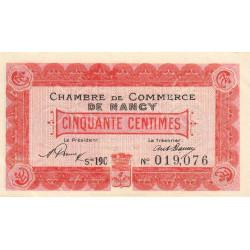 Nancy - Pirot 87-37 - 50 centimes - Série 19C - 01/01/1920 - Etat : SUP+