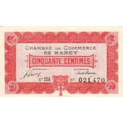 Nancy - Pirot 87-40 - 50 centimes - Etat : SPL