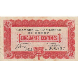 Nancy - Pirot 87-40 - 50 centimes - Série 22B - 01/05/1920 - Etat : TB+