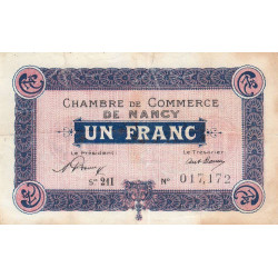 Nancy - Pirot 87-42 - 1 franc - Etat : TB