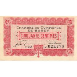 Nancy - Pirot 87-43 - 50 centimes - Série25F - 01/01/1921 - Etat : NEUF