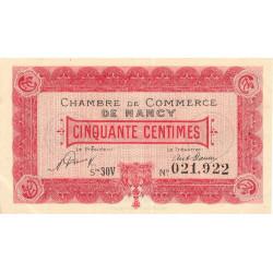 Nancy - Pirot 87-46 - 50 centimes - Série 30V - 01/01/1921 - Etat : SUP+