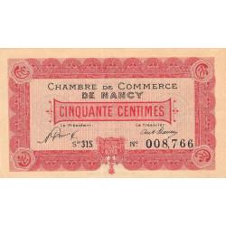 Nancy - Pirot 87-47 - 50 centimes - Série 31S - 01/01/1921 - Etat : SPL