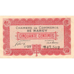 Nancy - Pirot 87-47 - 50 centimes - Etat : SUP