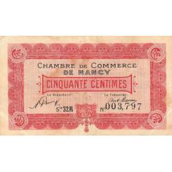 Nancy - Pirot 87-48 - 50 centimes - Série 32M - 01/01/1921 - Etat : TB+