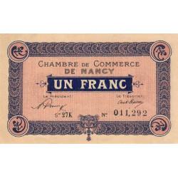 Nancy - Pirot 87-49 - 1 franc - Etat : SUP+