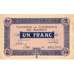 Nancy - Pirot 87-50 - 1 franc - Etat : SUP