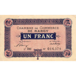 Nancy - Pirot 87-51 - 1 franc - Etat : TB+