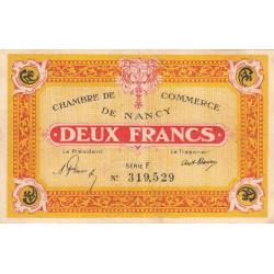Nancy - Pirot 87-52 - 2 francs - Série F - 01/01/1921 - Etat : TTB+