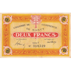 Nancy - Pirot 87-52-F - 2 francs - Etat : TTB+