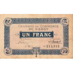Nancy - Pirot 87-54 - 1 franc - Etat : TB+