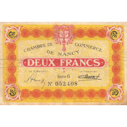 Nancy - Pirot 87-55-G - 2 francs - Etat : TB
