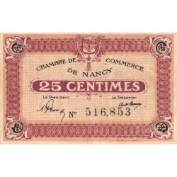 Nancy - Pirot 87-56 - 25 centimes - Etat : TTB-