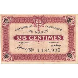 Nancy - Pirot 87-57 - 25 centimes - Etat : TTB-