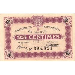 Nancy - Pirot 87-62 - 25 centimes - Etat : SUP-