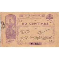 Amiens - Pirot 7-1 - 50 centimes - Série S.1 A - 15/09/1914 - Etat : TB-