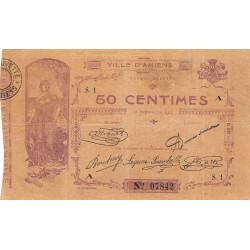 80 - Ville d'Amiens - Pirot 7-1 - 50 centimes - Série 1A - Etat : TB+