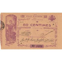 Amiens - Pirot 7-1 - 50 centimes - Série S.1 A - 15/09/1914 - Etat : SUP