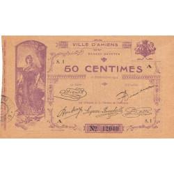 80 - Amiens (Ville d') - Pirot 7-1- 50 centimes - Etat : SPL à NEUF