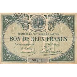 Nantes - Pirot 88-2 - 2 francs - Sans série - Sans date - Etat : TB-