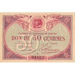 Nantes - Pirot 88-3 - 50 centimes - Série A - Sans date - Etat : TTB+