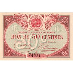 Nantes - Pirot 88-3 - 50 centimes - Série D - Sans date - Etat : NEUF