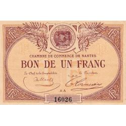 Nantes - Pirot 88-8 - 1 franc - Série AA - Sans date - Etat : TTB+