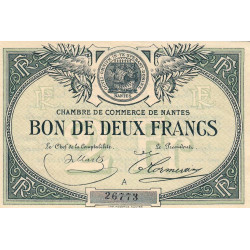 Nantes - Pirot 88-10a - 2 francs - Série A - Sans date - Etat : SUP