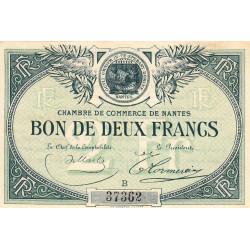 Nantes - Pirot 88-10b - 2 francs - Série B - Sans date - Etat : SUP+