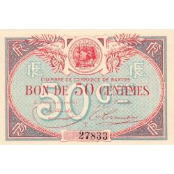 Nantes - Pirot 88-16 - 50 centimes - Série T - Sans date - Etat : SPL à NEUF