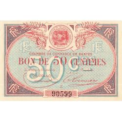 Nantes - Pirot 88-16 - 50 centimes - Série Z - Sans date - Etat : SUP+