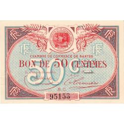 Nantes - Pirot 88-18 - 50 centimes - Série B.C. - Sans date - Etat : SUP+