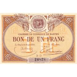 Nantes - Pirot 88-19 - 1 franc - Série BD - Sans date - Etat : SUP+